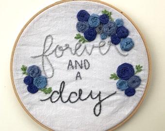 Custom Floral Burst Embroidery