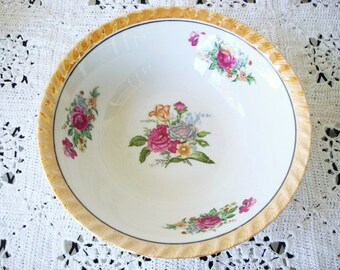 Vintage Porcelain Serving Bowl - Antique Porcelain & Lusterware Bowl