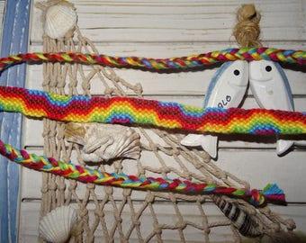 """Rainbow mountain"" Friendship Bracelet"
