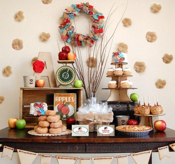 Vintage Apple Birthday Apple Baby Shower Apple Birthday