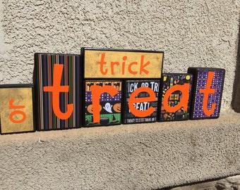 Halloween blocks - trick or treat