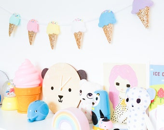 Ice-cream Garland, garland, Ice cream bunting, bunting, Ice cream decoration