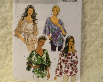 Uncut Butterick Pattern 5355 Fast and Easy Misses Tops
