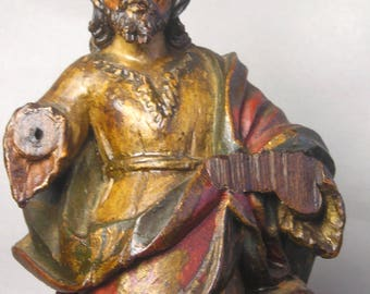 An Antique Carved Wood Statue of Jesus Z39