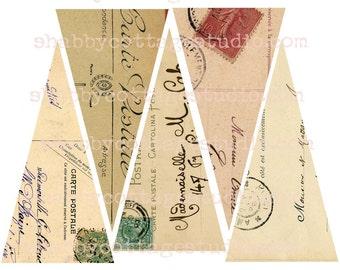 INSTANT DOWNLOAD DIGITAL Vintage Postcard Banner