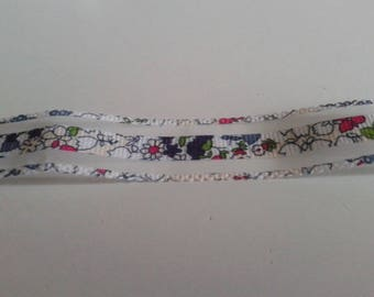 Grosgrain Ribbon Liberty and clear 22mm the meter