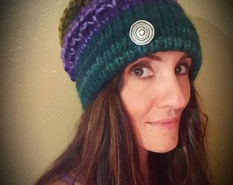 Purple & Greens Fine Wool Hat