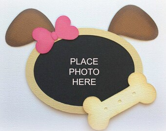 small dog or cat photo mat just add pic premade paper piecing 3d die cut by my tear bears kira