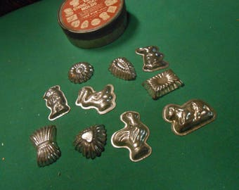 10 Vintage CHCOLATE CANDY Molds