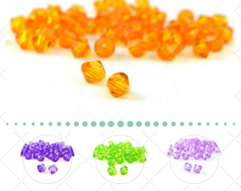 plastic transparent 8mm 50 beads