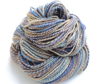 Blue Jean Babyqueen, Hand Spun, Handspun, Hand Dyed, Worsted, Yarn