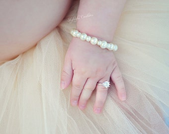 8-12 Month SILVER baby ring, baby ring, baby jewelry