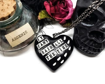 The Crow Movie Inspired It Cant Rain All The Time Necklace