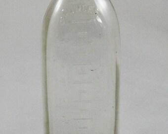 1940's Antique Glass Milk 8 oz Feeding Bottle