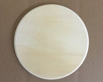"7"" Wood Circle I Wooden Circle I Small Wood Circle I Wood Circle Cutout I Wood Circle Shape I Circle Plaque I Circle Cutout"