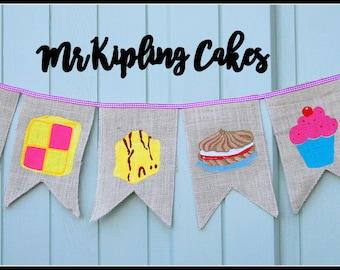 Mr Kipling Cupcake Bun Bunting Garland Decoration