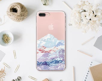 Mountains 7 iPhone Case iPhone 6 Plus Clear Case iPhone 6S Plus Cover iPhone X Phone 8 Case SE iPhone Phone Case 7 Plus iPhone 6 WA1080