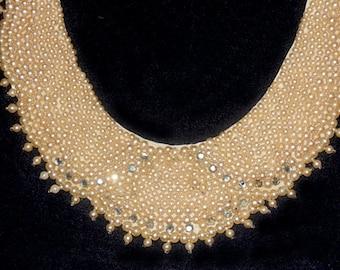 Ras du cou perle Vintage collier, collier Vintage collier de perle, strass bijoux, bijoux Vintage de NewYorkMarketplace sur Etsy