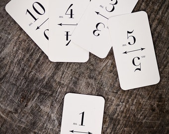 Table Number Flash Cards (1-10)