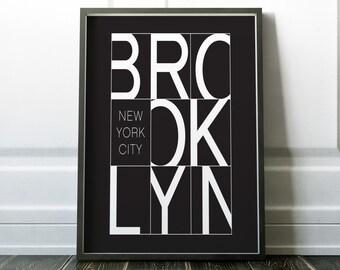 New York Poster, Wall Art, Black and White, New York Print, Wall Art Print, Posters, Black and White Art, Prints, Minimalist Print, Art