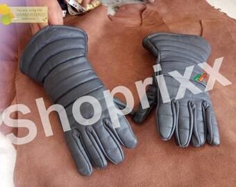 Leather padded gloves for steel gauntlet fighting gauntlet sca hmb larp using leather gloves Combat Inner Leather Finger Gloves