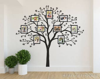Wall Decals Family Tree Wall Decal With Pictures Home Decor Wall Mural  Tattoo Large Stickers Black
