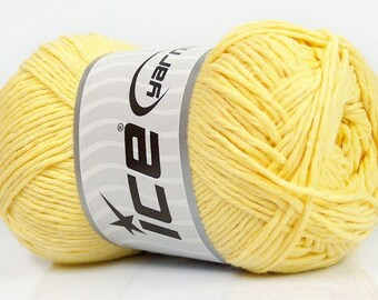 Ice Yarns - Natural Cotton - Baby Yellow - 100% Cotton - 100grams