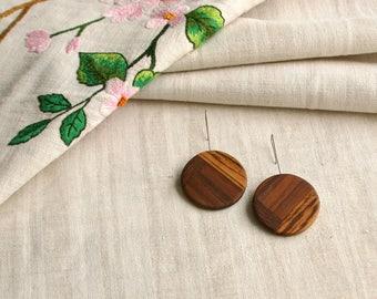 Wood earrings, Minimalistic earrings, Modern Ethno earrings, Unique design errings, wooden jewelry,geometric earrings,  wooden jewelry
