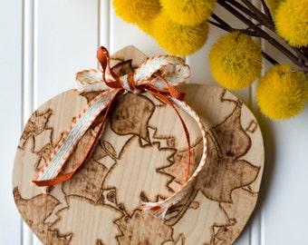 Fall Pumpkin Wood Decor Sign