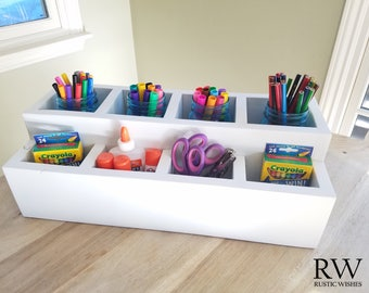 Crayon Caddie Art Organizer for Ball Jars with 8 Slots
