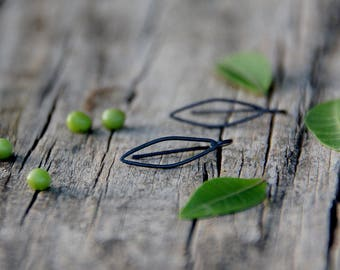 Leaves -  Contemporary sterling silver earrings