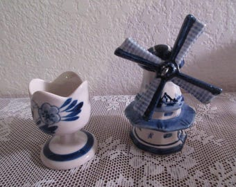 Vintage Delft Toothpick Holder/Windmill Figurine