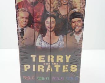 Terry et les Pirates VHS Coffret Vol. 1 2 3 4 nouveau!