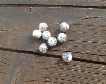 Glass beads gray black