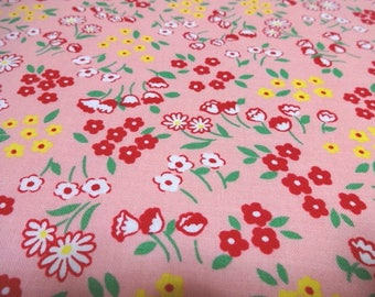 SALE Japanese Fabric LECIEN Antique Flower Garden Pink Fat Quarter