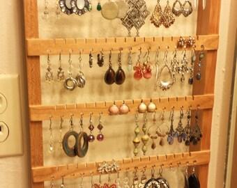Wood earring rack Etsy
