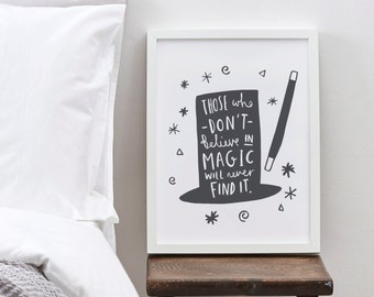 A4 Magic Print - Roald Dahl Quote Print