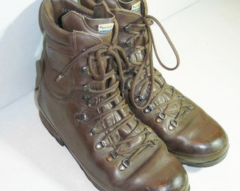 Genuine British Combat Boots Altberg Military Army Brown Leather Big Size 12 UK