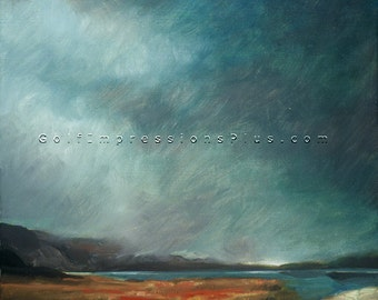 """Wall Decor. Oil Painting. Seascape Painting. """"Passing Storm"""", print of original oil painting."""