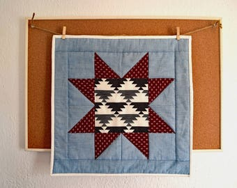 Sawtooth Star Quilted Wall Hanging