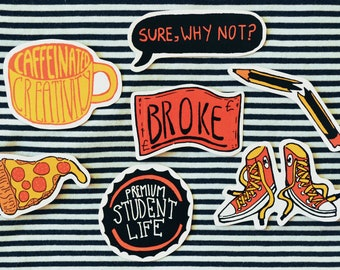 Student Life Sticker Pack #1