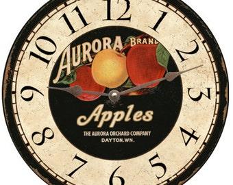 Rustic Apple Clock- Apple Wall Clocks