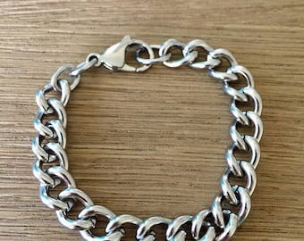 Stainless Steel Simple Layering Stacking Chunky Curb Link Chain Bracelet