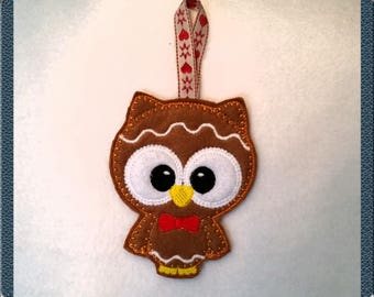 Supercute gingerbread owl decoration
