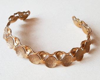 Karl-Erik Palmberg, Stunning modernist  bronze bib necklace, Sweden, 1960s (F1139)