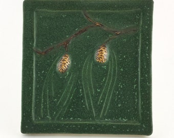 "FREE SHIPPING! 1999 Ephraim ""Retired"" Northwoods ""Kevin Hicks"" Pinecone Tile #990"