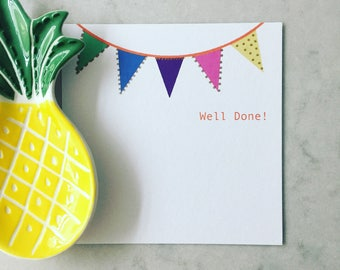 Bunting Well Done card
