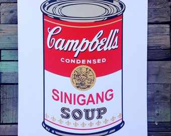 Sinigang soup Andy Warhol tribute screen printed art  print