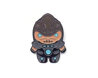 Chibi Mass Effect Grunt Enamel Pin