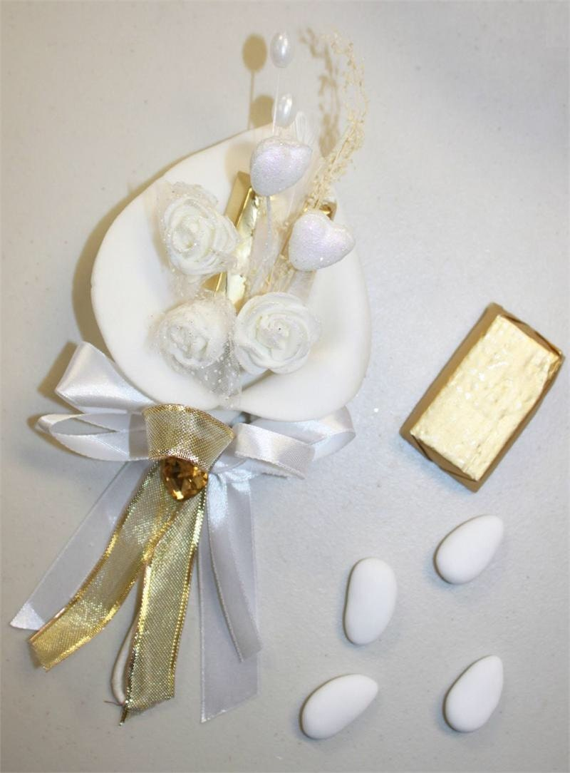 Charming Calla Lily Decorated Chocolate and Jordan Almonds